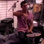 Teaching at drum clinic