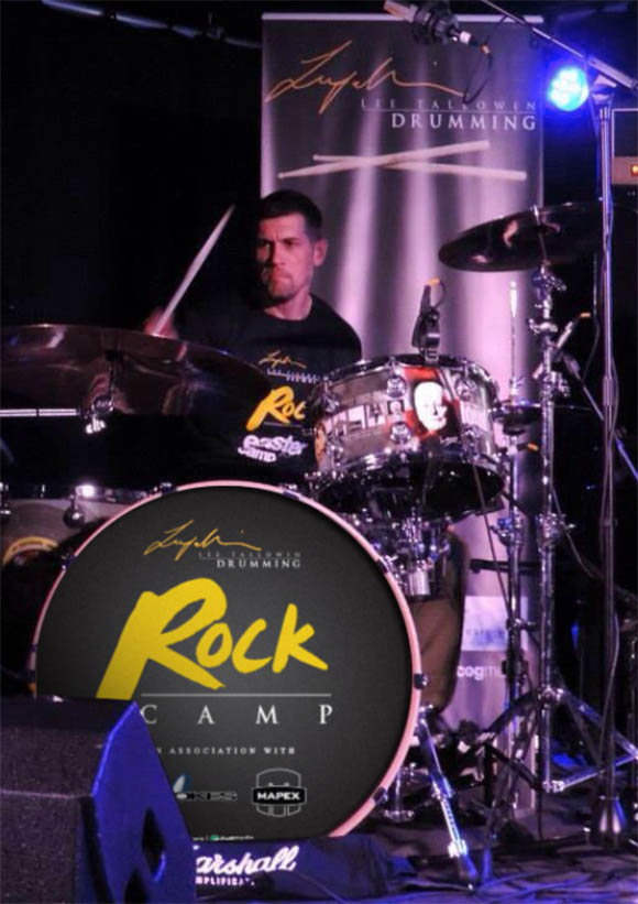 Session drummer Lee Tallowin at the drums
