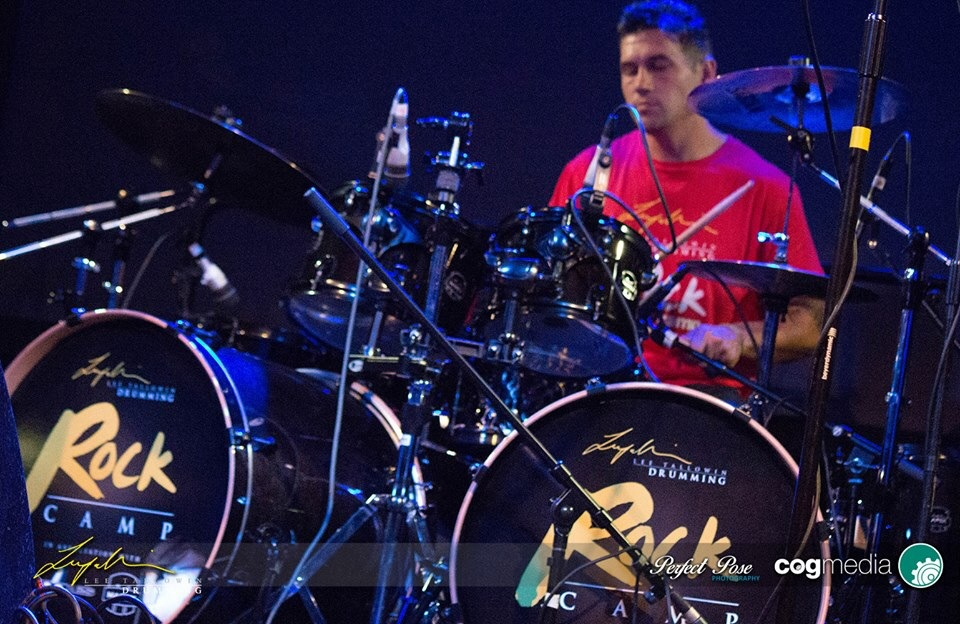 Lee Tallowin at the drums